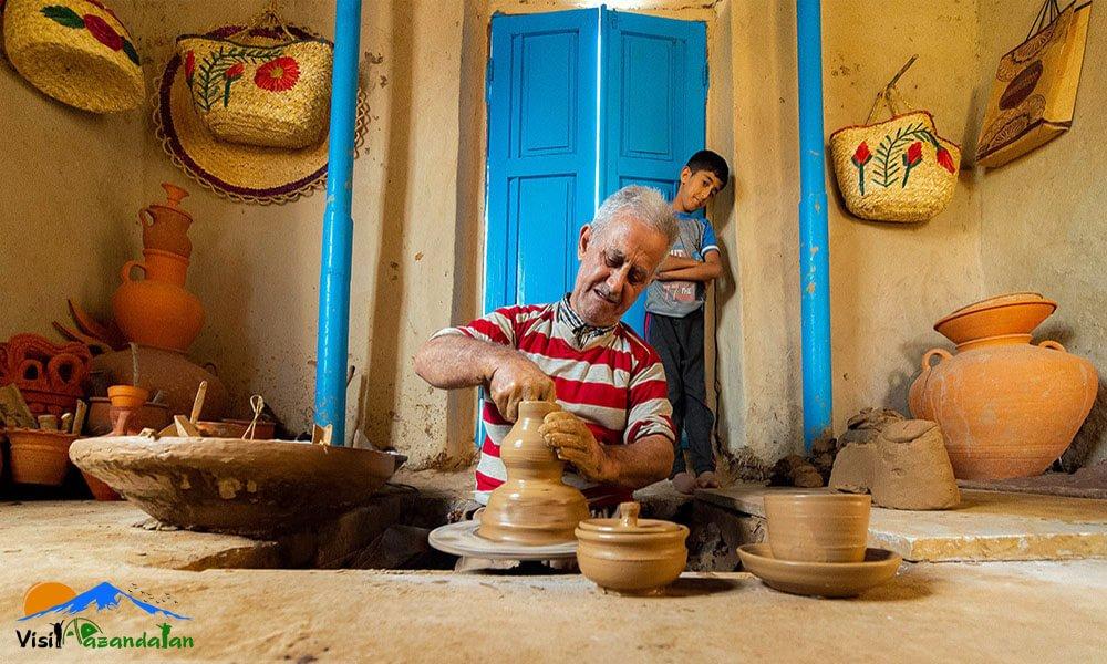 سفالگری در مازندران