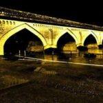 پل محمد حسن خان در شب