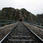 راه آهن روی پل