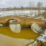 پل در برف