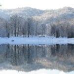 دریاچه عباسآباد در زمستان