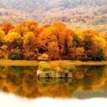 دریاچه عباس آباد بهشهر در پاییز