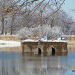 دریاچه عباس آباد در برف