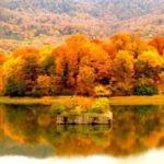 دریاچه عباس آباد در پاییز