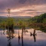 غروب دریاچه ممرز